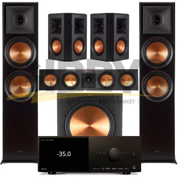 Anthem MRX 540 A/V Receiver | Klipsch RP-450CB Reference Premiere 5.1 Speaker Bundle # 8