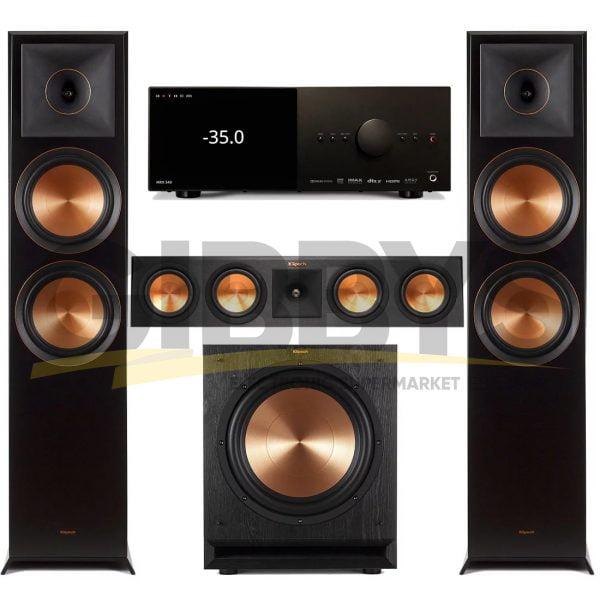 Anthem MRX 540 A/V Receiver | Klipsch RP450CB Reference Premiere 3.1 Speaker Bundle # 2