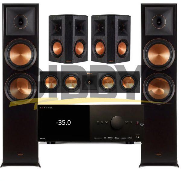 Anthem MRX 740 A/V Receiver | Klipsch RP-450CB Reference Premiere 5.0 Speaker Bundle # 9
