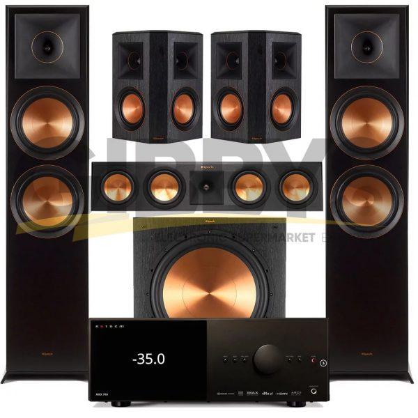 Anthem MRX 740 A/V Receiver | Klipsch RP-450CB Reference Premiere 5.1 Speaker Bundle # 8