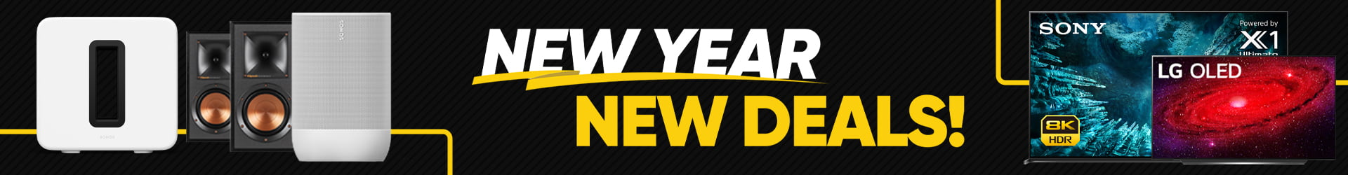 New Year New Deals Website Banner Promo Page