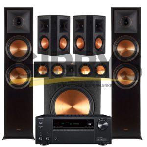 Onkyo TX-NR595 7.2-Channel Network A/V Receiver  Klipsch RP-450CB Reference Premiere 5.1 Speaker Bundle # 18