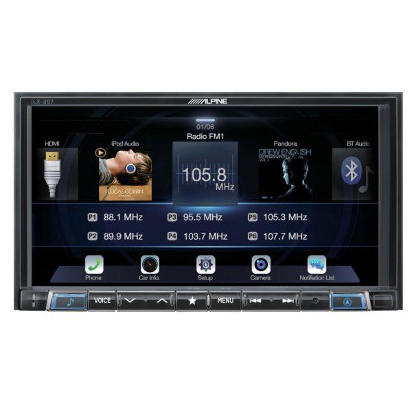 Alpine iLX-007 7 Double DIN In-Dash Digital Media Car Stereo - B Stock