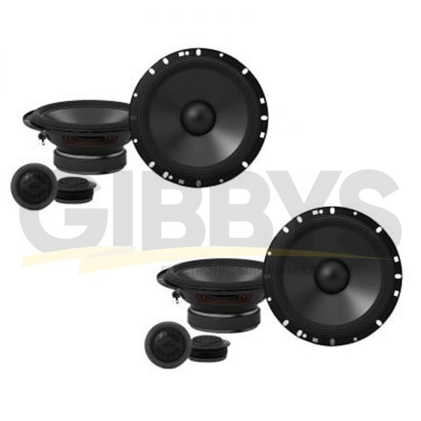 "Alpine S-S65C 6.5"" 2-Way Component Car Speakers - Pair - (x2)"