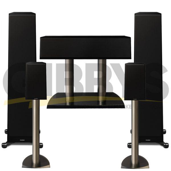 Founder 100F 5.0 Speaker Bundles #1 - Gloss Black