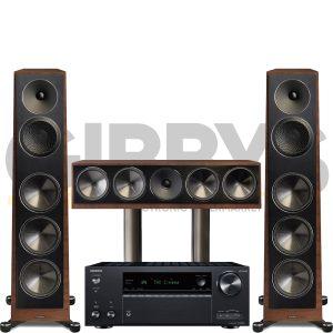 Onkyo TX-NR696 Founder 100F 3.0 Speaker Bundles Walnut