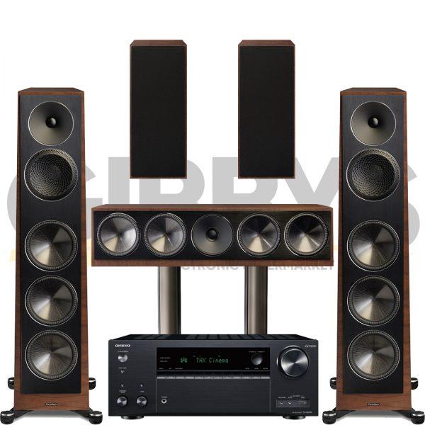Onkyo TX-NR696 Founder 100F 5.0 Speaker Bundles #2 - Walnut