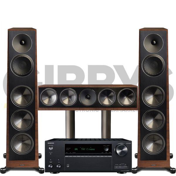 Onkyo TX-NR696 Founder 120H 3.0 Speaker Bundles Walnut
