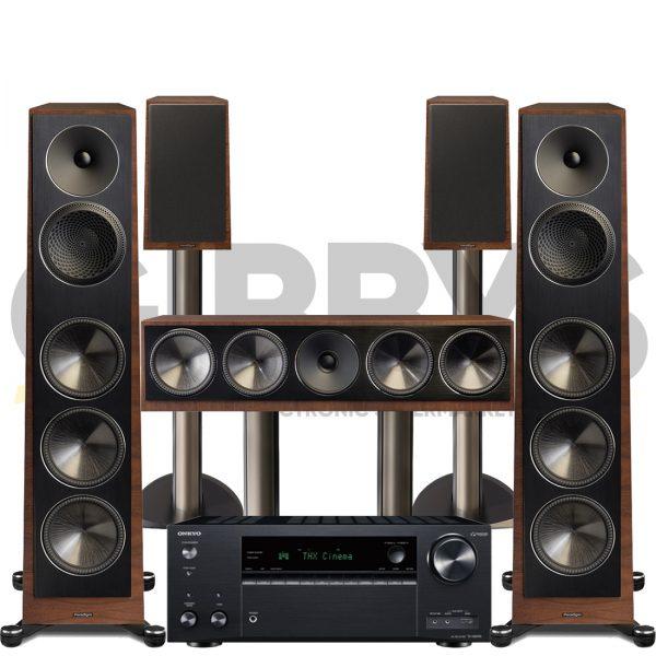 Onkyo TX-NR696 Founder 120H 5.0 Speaker Bundles #1 - Walnut
