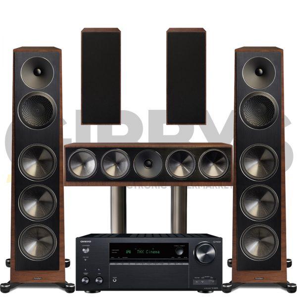 Onkyo TX-NR696 Founder 120H 5.0 Speaker Bundles #2 - Walnut