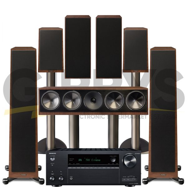 Onkyo TX-NR696 Founder 80F 7.0 Speaker Bundles - Walnut