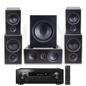 Pioneer VSX-834.PSB Alpha Bookshelf Speaker Bundle - Black Ash