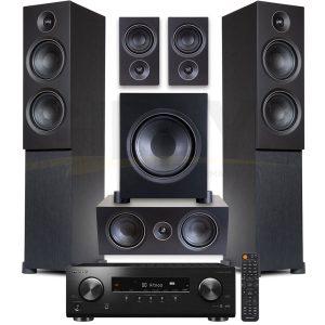 Pioneer VSX-834.PSB Alpha T20 Series 5.1 Speaker Bundle #2 – Black Ash