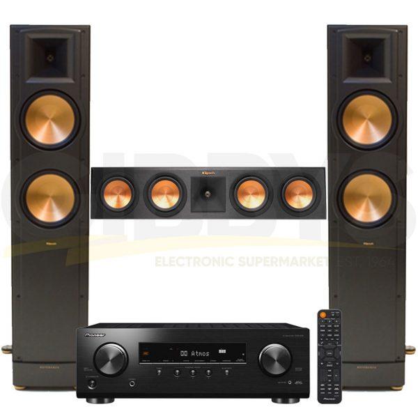 Pioneer VSX-834 7.2-Channel Virtual Bluetooth AV Receiver | Klipsch RF-82 II Reference 3.0 Speaker Bundle #2